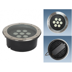 Грунтовый светодиодный светильник серии ПВУ 631 Оптикс