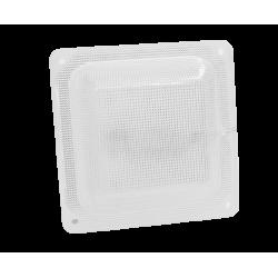 Светильник  ЖКХ квадрат микропризма 11 Вт с акустическим датчиком